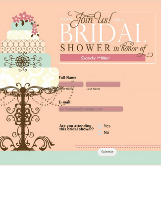 Bridal Shower Form