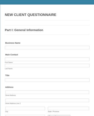 Web Designer Client Questionnaire