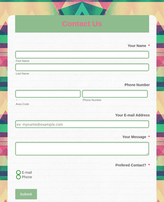 Contact Form - Modern Theme