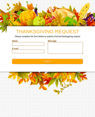 Thanksgiving Request Form