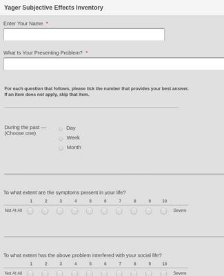 Mental Health Survey