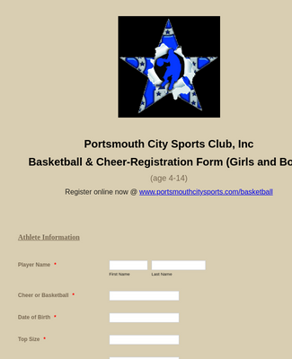 Basketball League Registration Form  6