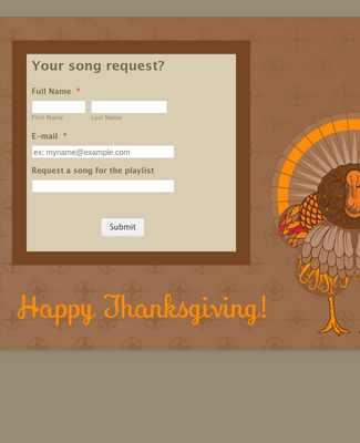 Thanksgiving Song Request