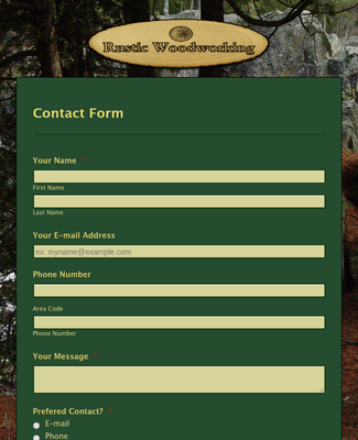Basic  Green Forest Contact Form