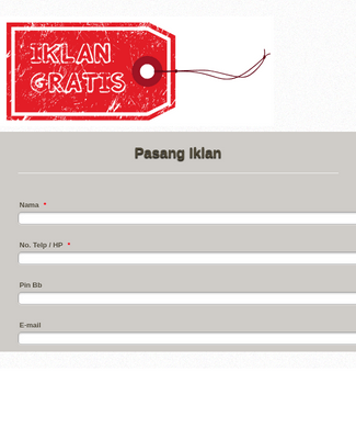 Indonesian Advertising Form