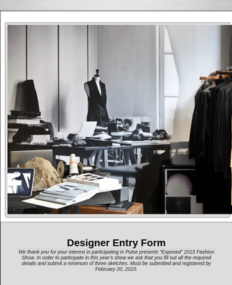 Designer Entry Form- Fashion show