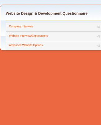 Website Questionnaire Form Template Jotform