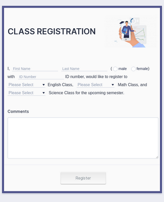 Student Enrollment Form