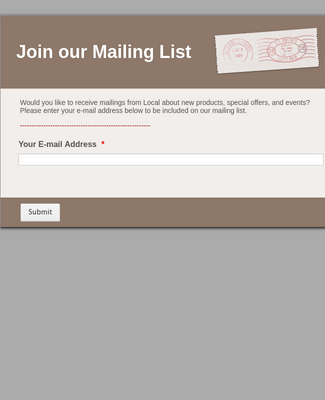 Mailing Listjoin our
