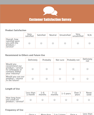 Customer Satisfaction Survey 6