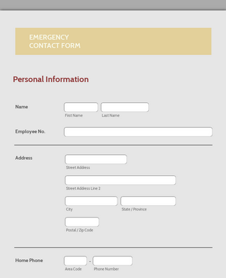 Emergency Contact Form 2