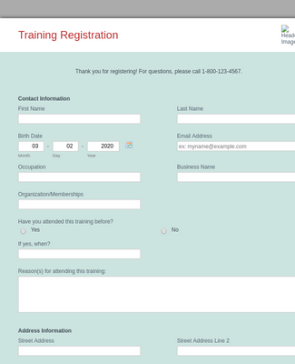 Training Registration