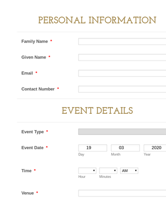 Event Photobooth Request Form
