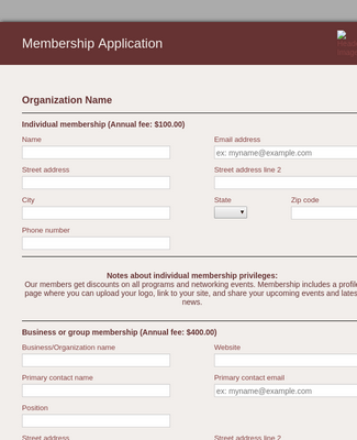Participant Application Form