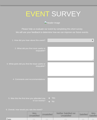 Event Survey 3