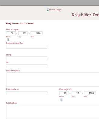Requisition Form