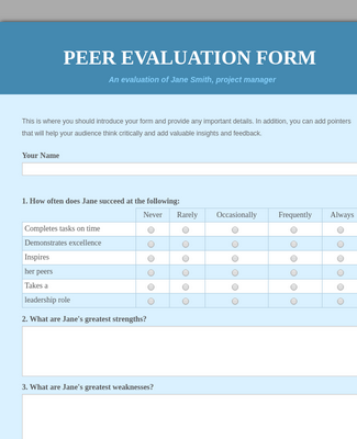 Peer Evaluation