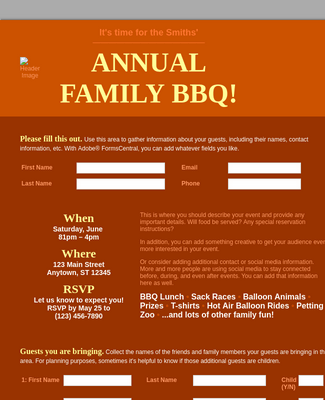 Family Event Registration