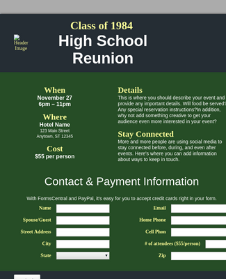 Reunion Registration 2