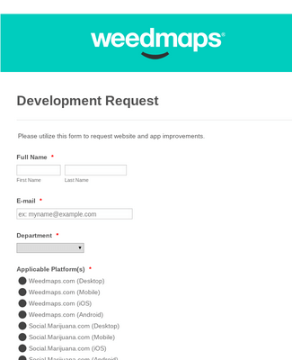 Weedmaps Development Request