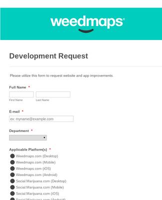 Weedmaps Development Request