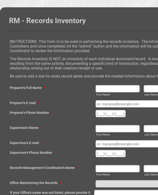 Records Inventory Form