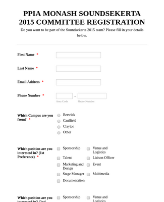 Committee Registration Form