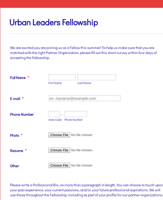 Partner Organization Form