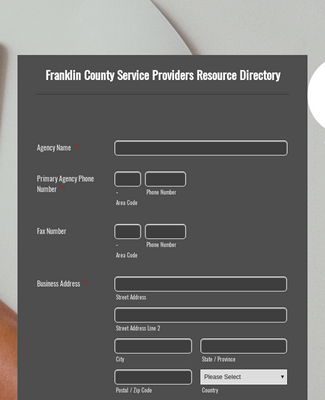 Business Directory Form