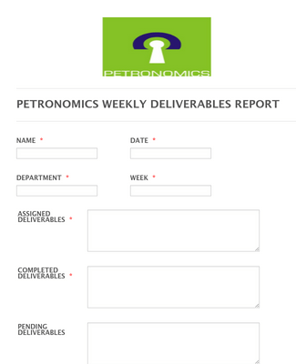 Weekly Report Forms