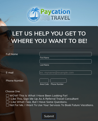Travel Contact Form