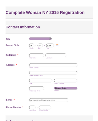 CW NY Registration Form