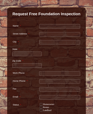 Foundation Inspection Request Form