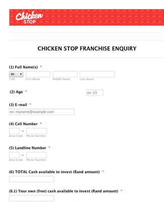 Franchise Inquiry Form