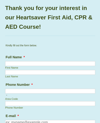 May 2015 - Heartsaver FS CPR AED