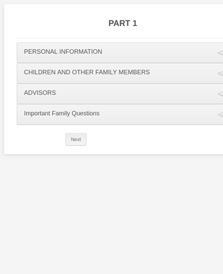 Personal and Family Information Form