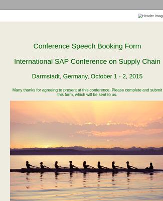 Speaker Booking Form