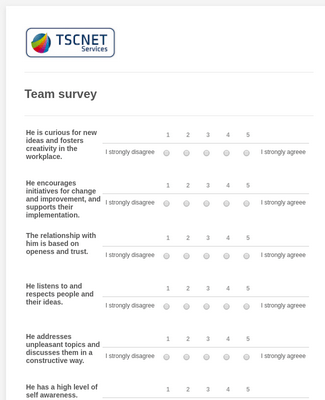 Team survey TSCNET