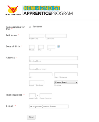 Highschool Apprentice Application