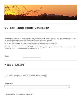 Outback Education 2015 - Kanyini