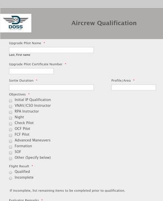 Aircrew Qualification