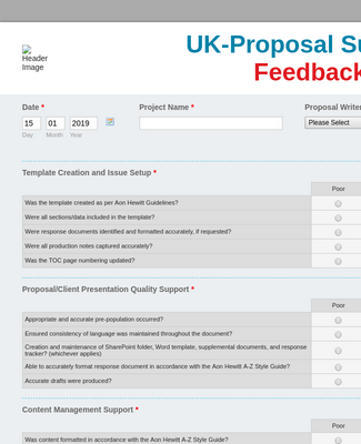 Proposal Support Feedback Formuk