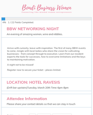 Bondi Business Women's Networking Event