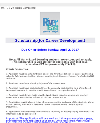 Scholarship for Career Development - Application