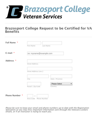 Request to be Certified for VA Benefits