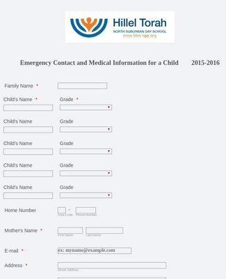 Emergency Contact and Medical Information 2