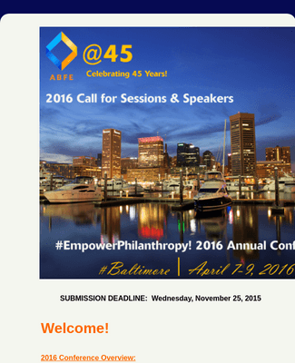 ABFE Empower Philanthropy! - Call for Session Proposals 2016