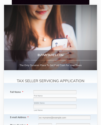 Tax Seller Servicing Application