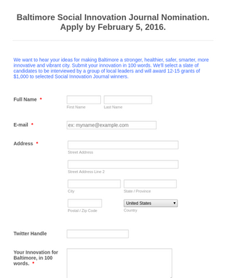 Invention Contest Entry Form