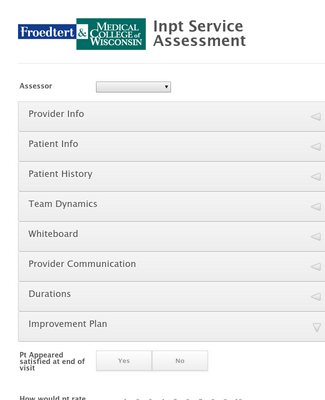 Inpatient Service Assessment